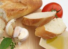 Ingredientes mediterrâneos Imagens de Stock