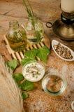 Ingredientes naturais dos cosméticos Fotos de Stock Royalty Free