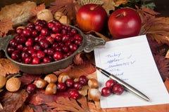 Ingredientes para a acção de graças Imagens de Stock Royalty Free