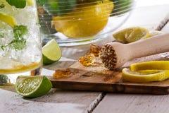 Ingredientes para a bebida fria do citrino Imagem de Stock Royalty Free