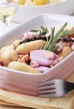 Ingredientes para a caçarola da batata Imagem de Stock Royalty Free