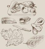 Ingredientes para cocinar Imagen de archivo libre de regalías