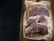 Ingredientes para cocinar la ternera del filete, cerdo Imagenes de archivo