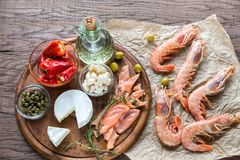 Ingredientes para a dieta mediterrânea Foto de Stock