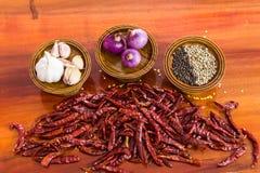 Ingredientes para el alimento tailandés Foto de archivo