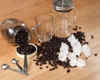 Ingredientes para el café helado Foto de archivo