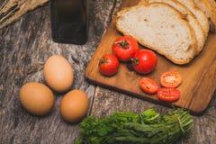 Ingredientes para el desayuno Imagen de archivo libre de regalías