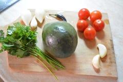 Ingredientes para el Guacamole - delicioso imágenes de archivo libres de regalías