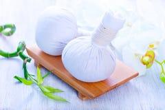 Ingredientes para el masaje Foto de archivo