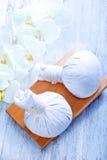 Ingredientes para el masaje Imagen de archivo libre de regalías
