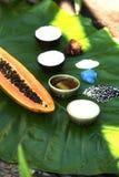 Ingredientes para el masaje tailandés y el balneario Imágenes de archivo libres de regalías