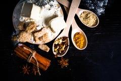 Ingredientes para el pan de jengibre Fotografía de archivo libre de regalías