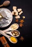 Ingredientes para el pan de jengibre Foto de archivo libre de regalías