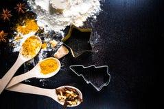 Ingredientes para el pan de jengibre Fotografía de archivo
