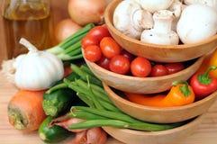 Ingredientes para a fritada vegetal do stir Fotos de Stock