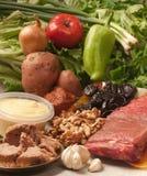 Ingredientes para la carne de la carne asada Fotografía de archivo