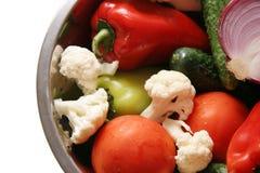 Ingredientes para la ensalada. Foto de archivo libre de regalías