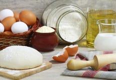 Ingredientes para la pasta. foto de archivo
