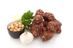 Ingredientes para la sopa de la alcachofa de Jerusalén Imágenes de archivo libres de regalías