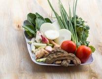 Ingredientes para la sopa de pato Imagen de archivo
