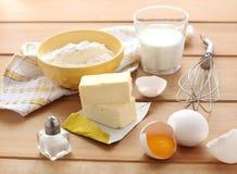 Ingredientes para la tarta Imagen de archivo