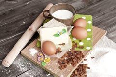 Ingredientes para la torta de Pascua Imagen de archivo