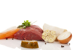 Ingredientes para o caldo Imagens de Stock