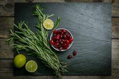 Ingredientes para o cocktail do arando Imagem de Stock Royalty Free