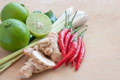 """Ingredientes para o  de YUM†do """"TOM da culinária de Thai's Imagem de Stock"""