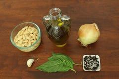 Ingredientes para o mergulho de feijão branco Imagem de Stock Royalty Free