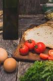 Ingredientes para o pequeno almoço Fotografia de Stock