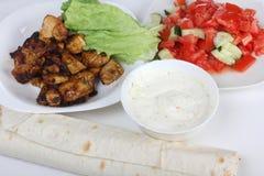 Ingredientes para o shawarma quatro Fotografia de Stock Royalty Free
