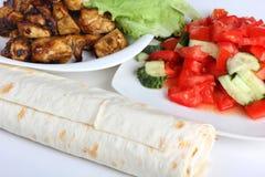 Ingredientes para o shawarma três Foto de Stock