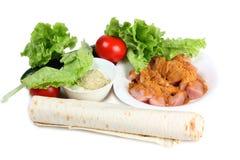 Ingredientes para o shawarma um Imagens de Stock