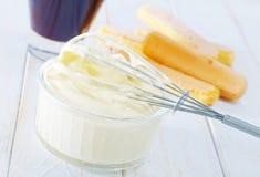 Ingredientes para o tiramisurt Fotografia de Stock Royalty Free