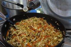 ingredientes para a preparação da receita do chop suey foto de stock royalty free