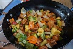 ingredientes para a preparação da receita do chop suey foto de stock