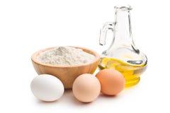 Ingredientes para preparar las pastas Imagen de archivo