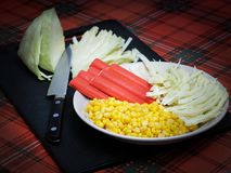 Ingredientes para a salada Imagens de Stock Royalty Free