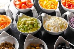 Ingredientes para a salada Fotos de Stock Royalty Free