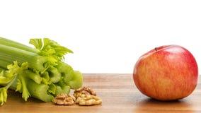 Ingredientes para a salada de waldorf Fotografia de Stock Royalty Free