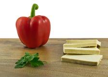 Ingredientes para a salada simples Fotos de Stock Royalty Free