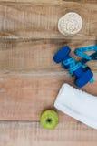 Ingredientes para um estilo de vida saudável Foto de Stock Royalty Free