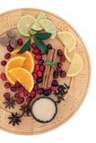 Ingredientes reflexionados sobre del vino Fotos de archivo