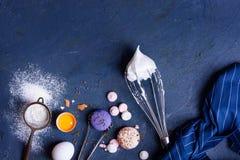 Ingredientes sanos de la hornada Capítulo del fondo de la panadería Visión superior, espacio de la copia imágenes de archivo libres de regalías