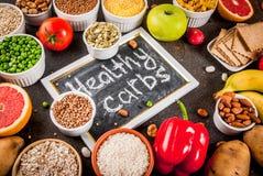Ingredientes sanos de los carbohidratos imagen de archivo libre de regalías