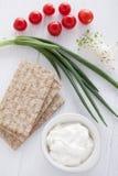 Ingredientes saudáveis do sanduíche imagens de stock royalty free