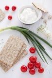 Ingredientes saudáveis do sanduíche imagem de stock