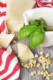 Ingredientes tradicionales italianos de las pastas Imagenes de archivo