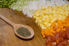 Ingredientes vegetais da sopa Fotografia de Stock